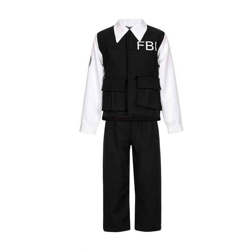 Kostümplanet Polizei-Kostüm »FBI Kinderkostüm Fasching«