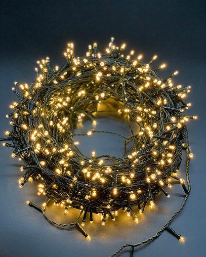 style home LED-Lichterkette, 750er LED Lichtervorhang Innen und Außen 45M, 8 Modi,Timer Funktion für Weihnachten Party Garten Festival (Warmweiß, IP44)