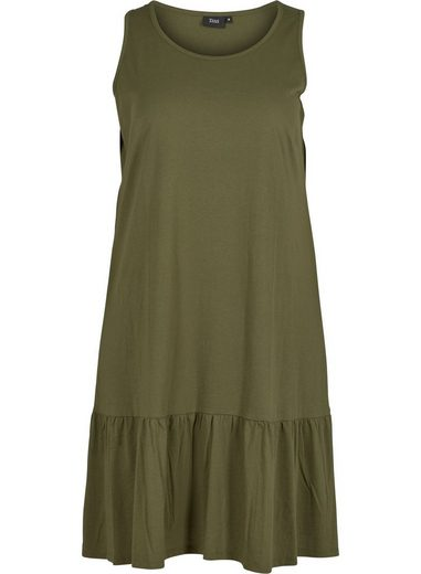 Zizzi Blusenkleid Große Größen Damen Schlichtes Kleid mit Rundhalsausschnitt ohne Ärmel