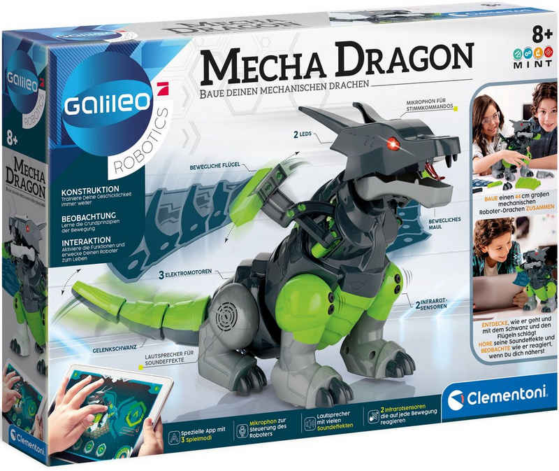 Clementoni® Experimentierkasten »Galileo Mecha Dragon«, mit App-Funktion; Made in Europe