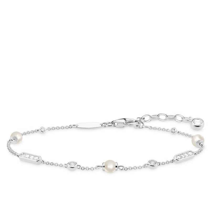 THOMAS SABO Armband »A1919-167-14 Armband Damen Perlen-Armband Silber«
