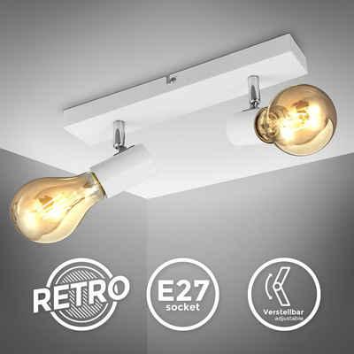 B.K.Licht LED Deckenspot »BKL1360«, schwenkbare vintage Deckenleuchte, 2-flammige retro Deckenlampe, max. 60W E27, Landhausstil, Deckenstrahler, ohne Leuchtmittel