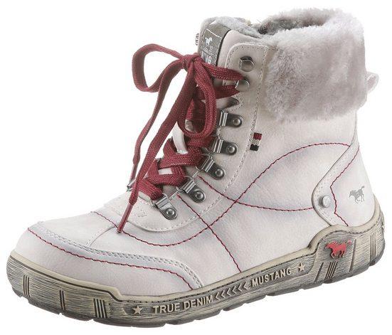 Mustang Shoes Winterboots mit Fellimitat-Kragen, bequeme Form