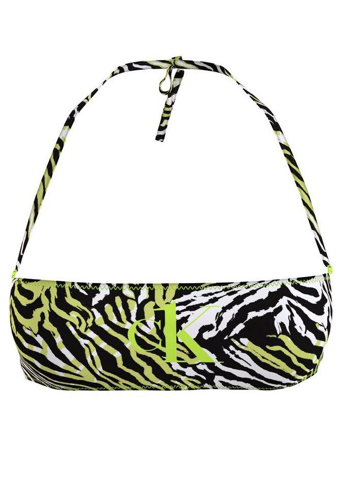 Bademode - Calvin Klein Bandeau Bikini Top, im Zebra Look ›  - Onlineshop OTTO