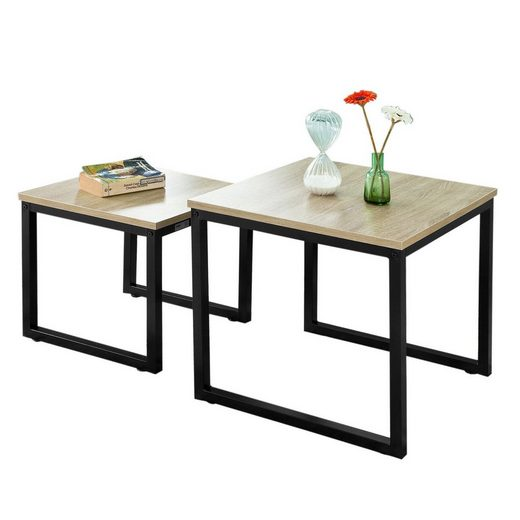 SoBuy Satztisch »FBT42/FBT35«, Couchtisch Beistelltisch 2-teilig Tisch-Set