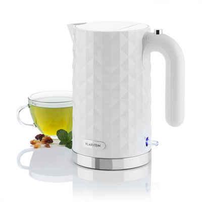 Klarstein Wasserkocher Granada Bianca Wasserkocher 1,7 l 2200W weiß, 1.7 l, 2200 W
