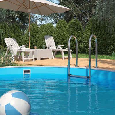 Oskar Poolleiter »Einbauleiter 3 Stufen Schwimmbadleiter V2A Edelstahl Pool Einstieg«