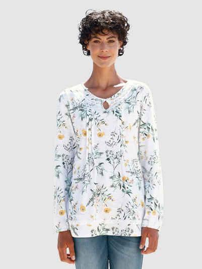 Dress In Langarmshirt mit schönem Blumenprint