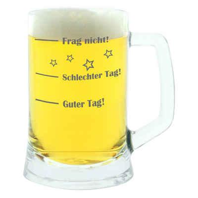 montana-Glas Bierkrug »Guter Tag! Schlechter Tag! Frag Nicht!«, Glas, lasergraviert