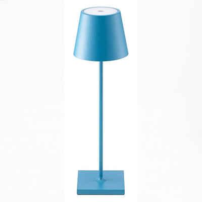 SIGOR LED Tischleuchte »Nuindie - Blaue LED Akku-Tischlampe Indoor & Outdoor, dimmbar und aufladbar mit Easy-Connect, 9h Leuchtdauer«