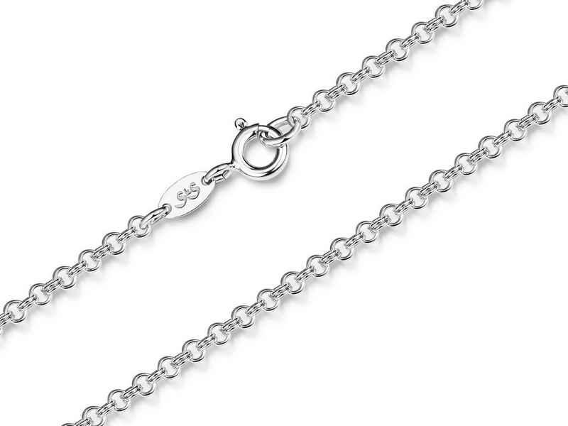 Silberkettenstore Silberkette »Doppelerbskette 2,4mm - 925 Silber, von 38-100cm wählbar«
