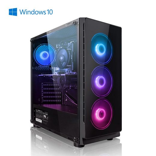 Megaport Gaming-PC (Intel Core i5-10600K 6x4,10 GHz, GeForce RTX 3060Ti, 16 GB RAM, 1000 GB HDD, 240 GB SSD, Windows 10 Home, WLAN)