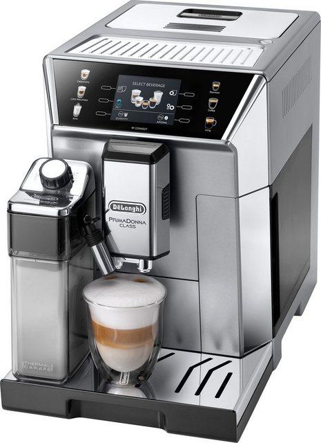 Delonghi De Longhi Kaffeevollautomat PrimaDonna Class ECAM 550.85.MS, silber