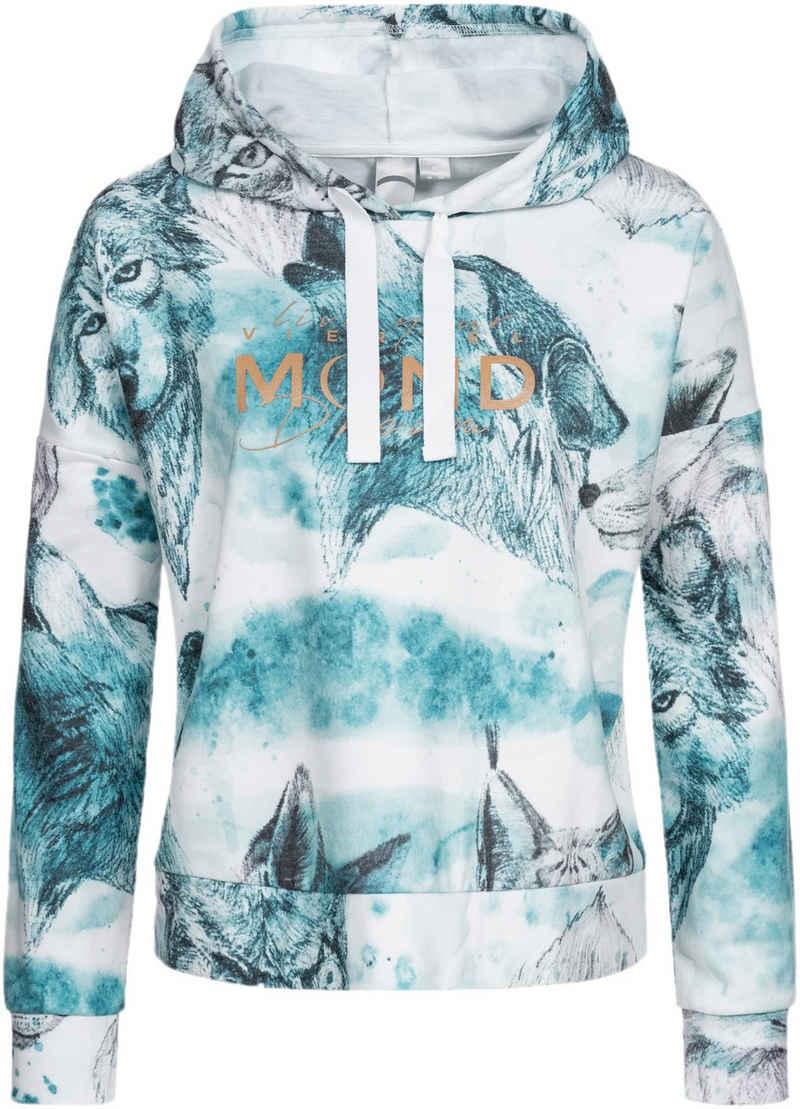 DEPROC Active Kapuzensweatshirt »SWEAT GILFORD AOP WOMEN« mit Kontrastdetails