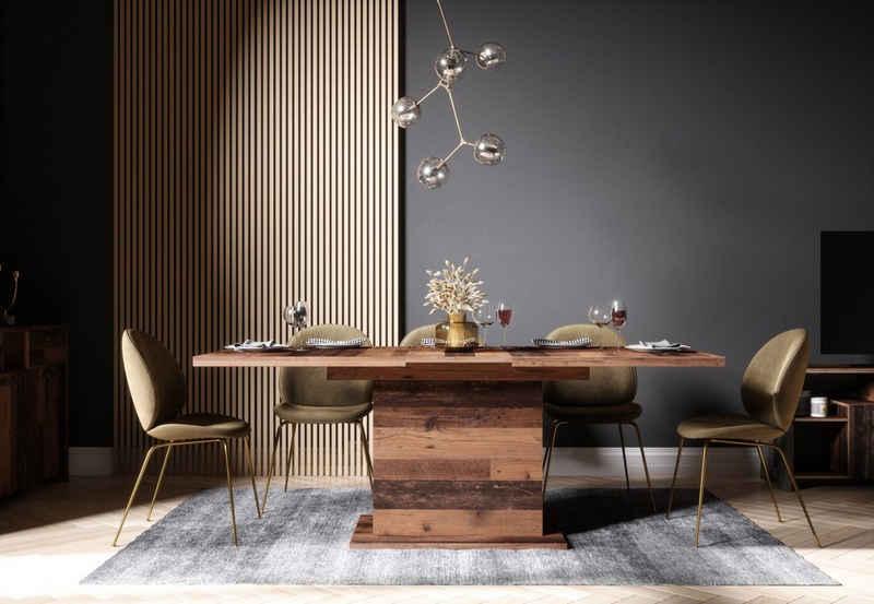 Newroom Esstisch »Kane«, ausziehbar 160-200 cm inkl. Tischplatte Old Wood Vintage Landhaus Küchentisch Speisetisch Esszimmer