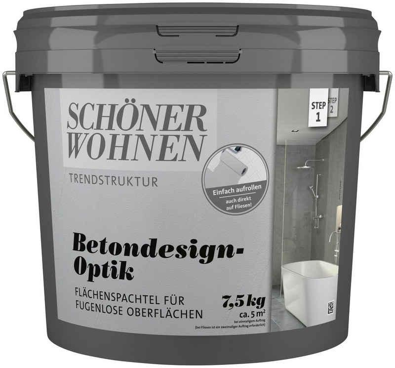 SCHÖNER WOHNEN-Kollektion Spachtelmasse »Betondesign-Optik Flächenspachtel«, grau