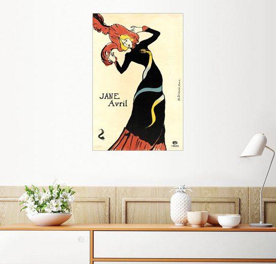 Posterlounge Wandbild, Jane Avril