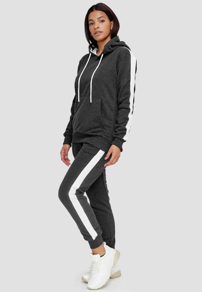 John Kayna Jogginganzug »Damen Jogginganzug, Streetwear, Fitness, Sporta« (Sportanzug Jogger Trainingsanzug, 2-tlg., im modischem Design), Fitness Freizeit Casual