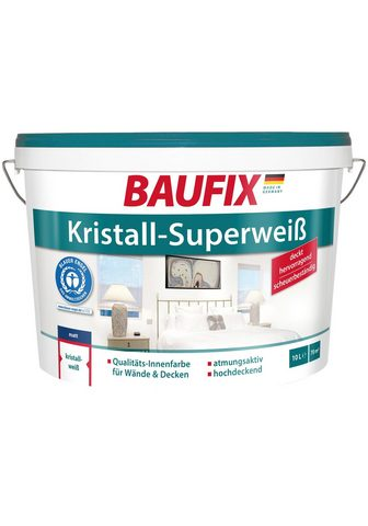 Baufix Wand- ir Deckenfarbe 10 Liter weiß
