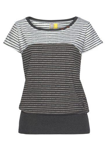 Alife & Kickin T-Shirt »CosmaAK« angesagtes Kurzarmshirt im trendy Streifen-Mix