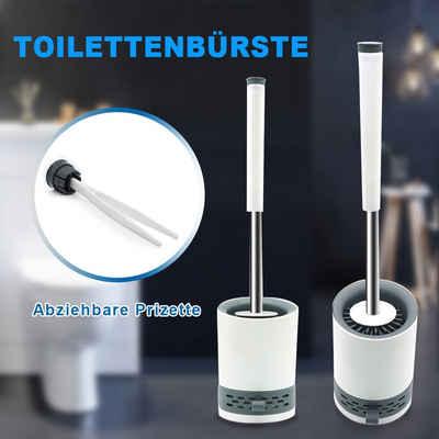 Reinigungsbürste »WC Toilettenbürste«, SONNI, Toiletten, WC, Badezimmer, (Set), 2 In 1 Design, Silikon