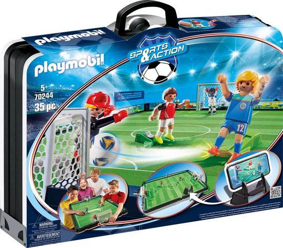 Playmobil® Konstruktions-Spielset »Große Fußballarena zum Mitnehmen (70244), Sports & Action«, Made in Europe