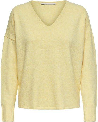 Only V-Ausschnitt-Pullover »ONLRICA« aus der nachhaltigen ONLY Life Kollektion