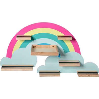 MyToys-COLLECTION Wandregal »Regal für die Hörspielbox - Regenbogen«