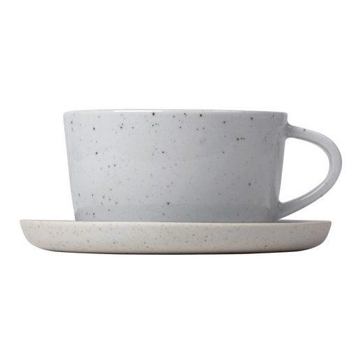 BLOMUS Tasse »SABLO 2er-Set mit Untertassen 150 ml«, Keramik