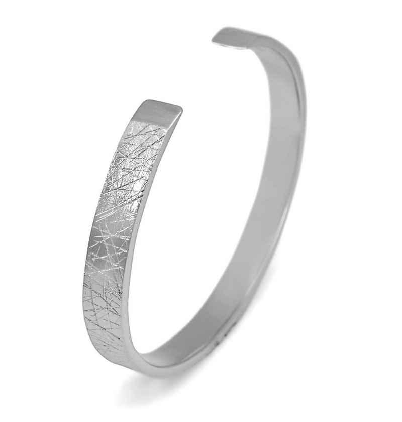 Sprezzi Fashion Silberarmband »Herren Armreif Silber Armband aus massivem 925er Sterling Silber mit handgefertigtem Muster größenverstellbar, Designer Männerschmuck« (inklusive Schmucketui und kostenlosem Silber-Pflegetuch geliefert), massiv, handgearbeitet