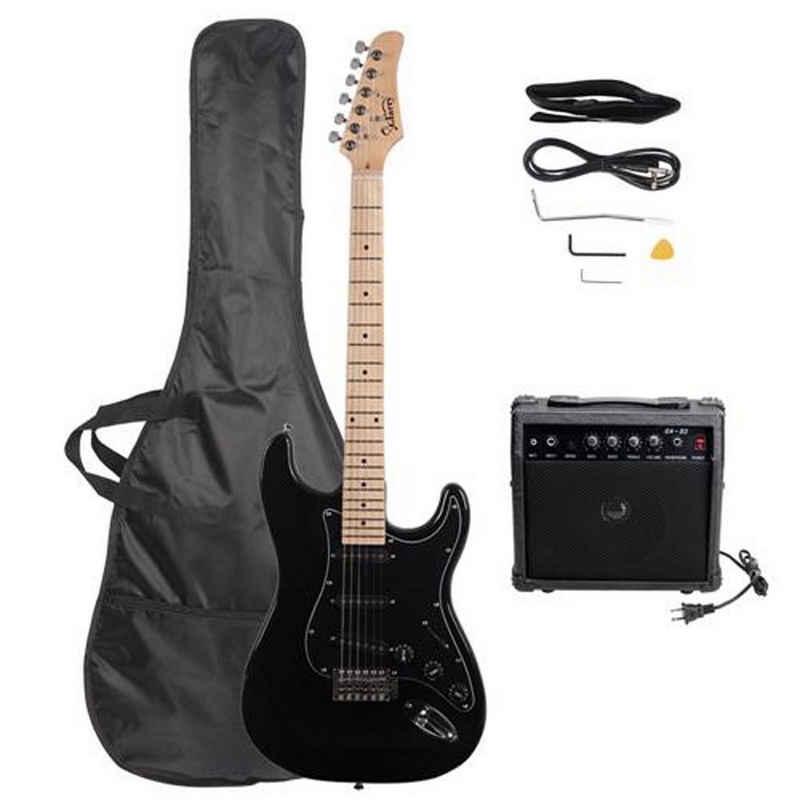 Masbekte E-Gitarre, volle Größe E-Gitarre und E-Gitarrenverstärker Set für Einsteiger