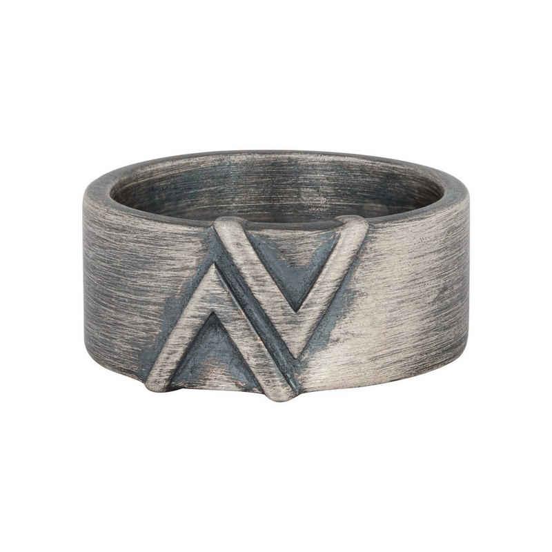 CAÏ Silberring »925/- Sterling Silber matt oxidiert Dreieck«