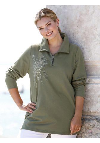 m. collection Sportinio stiliaus megztinis su žvilga...