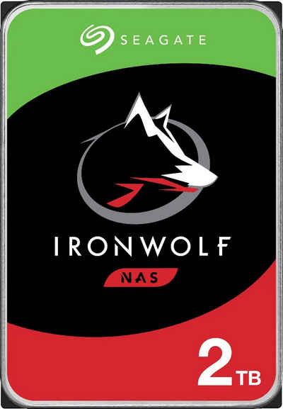 """Seagate »IronWolf« HDD-NAS-Festplatte 3,5"""" (2 TB) 180 MB/S Lesegeschwindigkeit, Bulk, inkl. 3 Jahre Rescue Data Recovery Services)"""