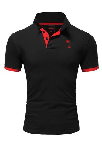 behype Polo marškinėliai »PALM« su kontrastfa...