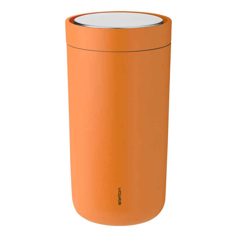 Stelton Coffee-to-go-Becher »To-Go Click soft orange 200 ml«, Stahl