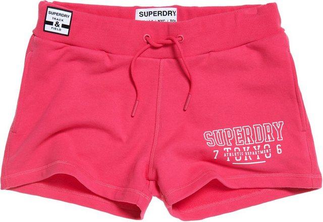 Hosen - Superdry Shorts »TRACK FIELD SHORT« mit ausgestanztem Logo › rosa  - Onlineshop OTTO