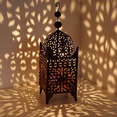 Casa Moro Laterne »Marokkanische Eisen-Laterne Firyal 70 cm hoch x 23cm breit in edelrost-braun für draußen & Innen, hängend & stehend, Windlicht wie aus 1001 Nacht, L1650«, Eisen Rost Finish