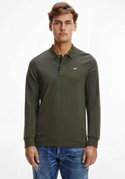 Tommy Jeans Langarm-Poloshirt »TJM TONAL LOGO LS POLO«