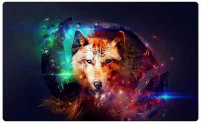 DesFoli Wandtattoo »Wolf Raubtier Abtrakt R0069«