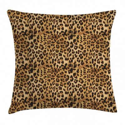 Abakuhaus Kissenbezug »Waschbar mit Reißverschluss Kissenhülle mit Farbfesten Klaren Farben Beidseitiger Druck«, Braun Leopard-Druck