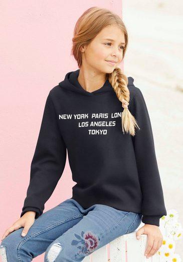 Arizona Kapuzensweatshirt mit breiten Ärmelbündchen