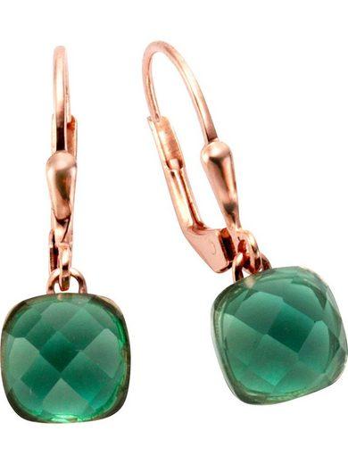 Jamelli Paar Ohrhänger »Jamelli Damen-Ohrhänger 925er Silber 2 Quarz«