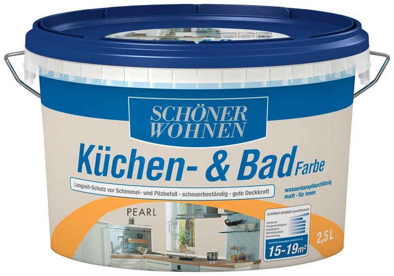 SCHÖNER WOHNEN-Kollektion Feuchtraumfarbe »Küche/Badfarbe, pearl«, 2,5 l
