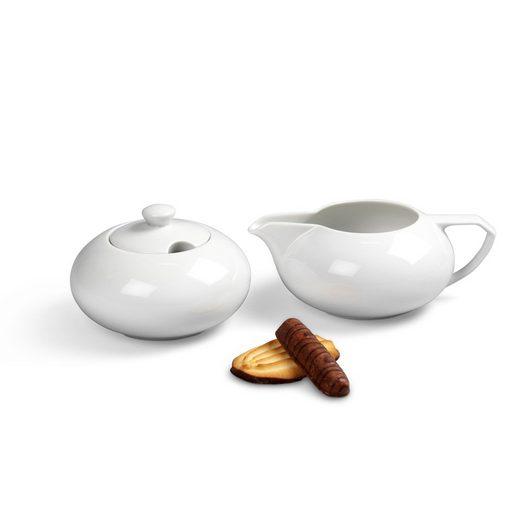 Friesland Porzellan Kombiservice »Friesland Ergänzungs-Set Kaffee 2tlg Ecco Weiß«