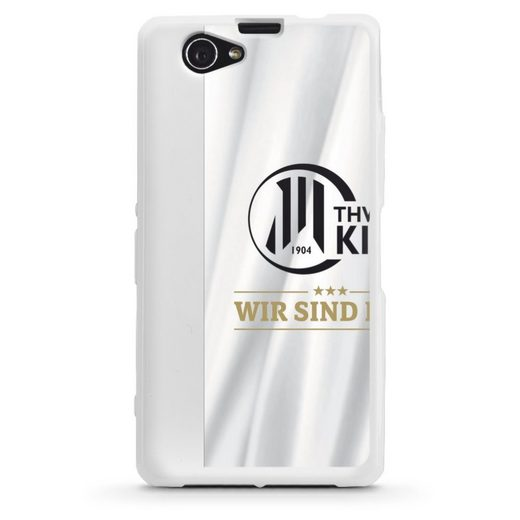 DeinDesign Handyhülle »Wir sind Kiel - 4 Sterne - THW Kiel« Sony Xperia Z1 Compact, Hülle THW Kiel Handball Offizielles Lizenzprodukt