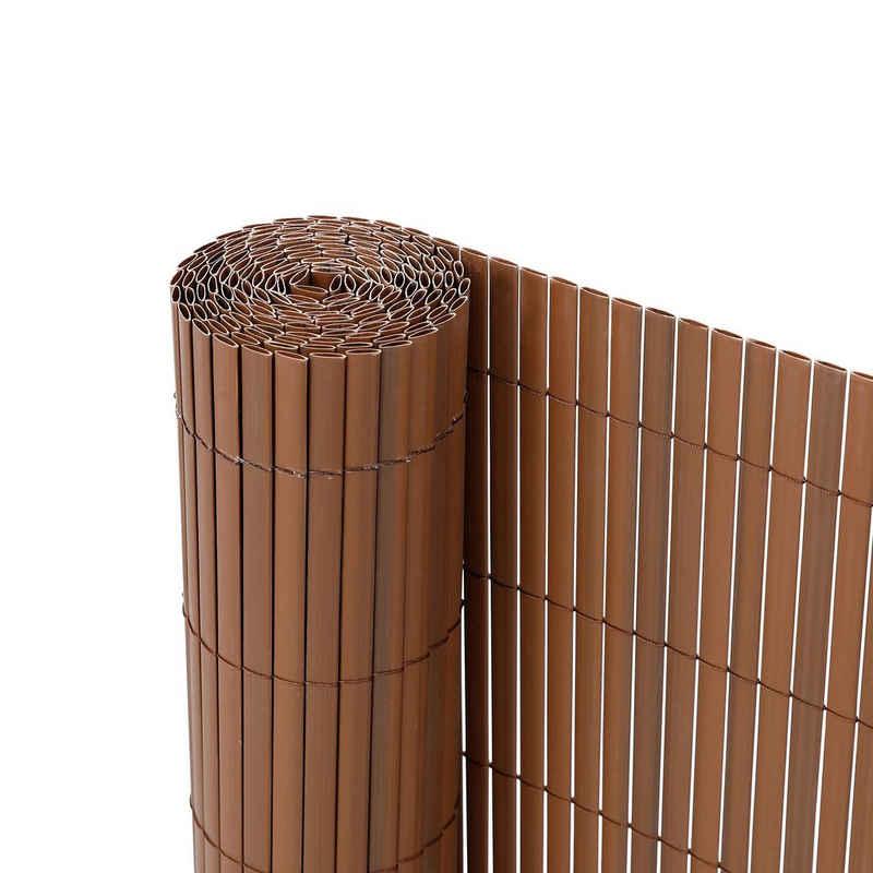 Ribelli Balkonsichtschutz Zaunsichtschutz PVC ca. 0,9 x 3m braun
