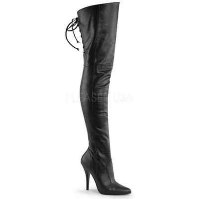 Pleaser »Pleaser LEGEND-8899 Overknee Stiefel Schwarz« Overkneestiefel aus echtem Leder
