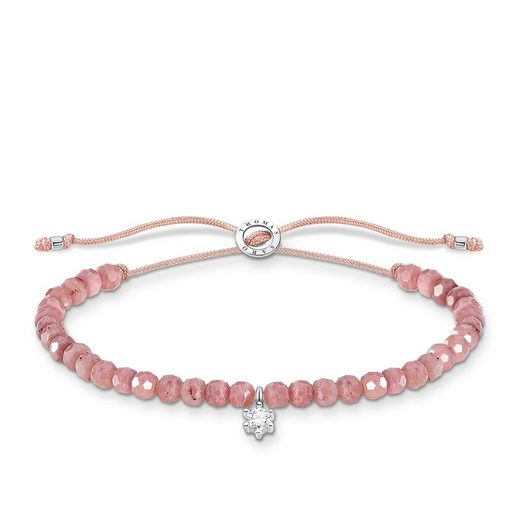 THOMAS SABO Armband »A1987-401-9 Armband Rosa Perlen mit Weißem Stein Silber«