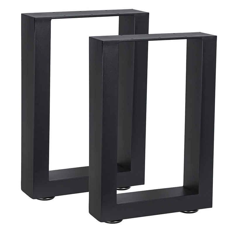 Mucola Tischbein »Tischuntergestell Möbelfüße Tischgestell Möbelbeine Bankkufen«, inkl. Bodenschützer
